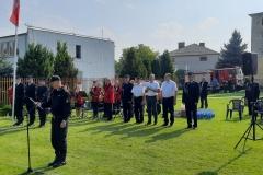 Zawody sporotwo-pożarnicze jednostek Ochotniczych Straży Pożarnych - odczytanie rozkazu