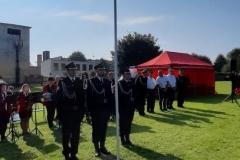 Zawody sporotwo-pożarnicze jednostek Ochotniczych Straży Pożarnych - poczet flagowy