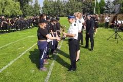 Zawody sporotwo-pożarnicze jednostek Ochotniczych Straży Pożarnych - wręczenie nagród